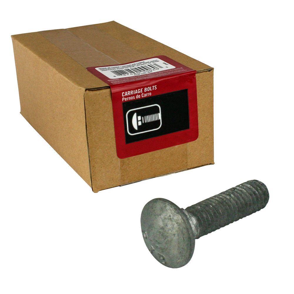 3/8 in. - 16 tpi x 2-1/2 in. Galvanized Coarse Thread Carriage Bolt (25-Piece per Box)