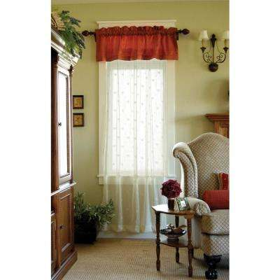 Bee 84 in. L Polyester Valance in Ecru