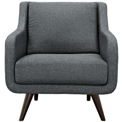Verve Gray Upholstered Fabric Armchair