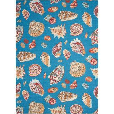 Low Tide Azure 5 ft. x 7 ft. Indoor/Outdoor Area Rug