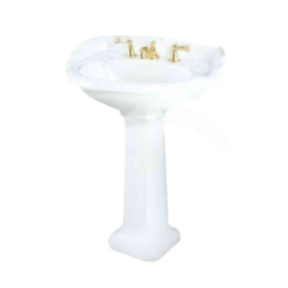 St. Thomas Creations Barrymore Medium Pedestal Lavatory- White-DISCONTINUED