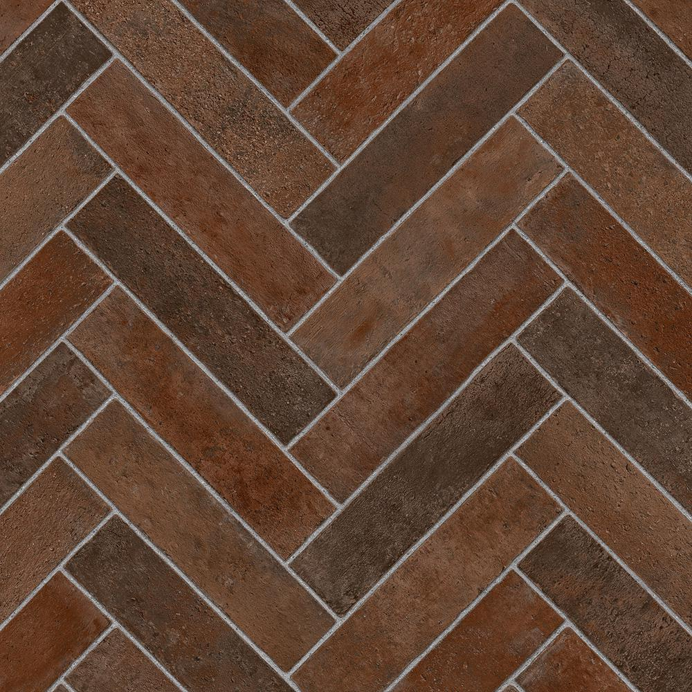 Vinyl Flooring Kitchen Brick : Trafficmaster brick terra cotta ft wide your choice