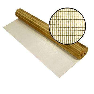 48 in. x 100 ft. Brite Bronze Screen