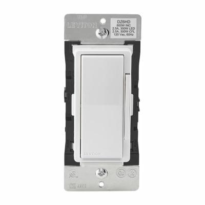 Decora Smart with Z-Wave Technology 600-Watt Dimmer, White/Light Almond (5-Pack)