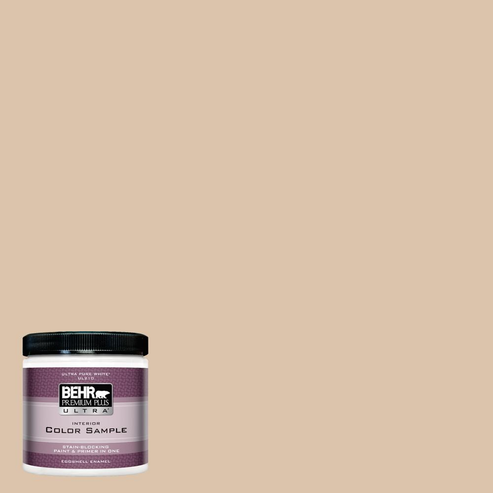 Behr premium plus ultra 8 oz ppu4 8 plateau eggshell enamel interior exterior paint and primer for Behr exterior paint with primer reviews