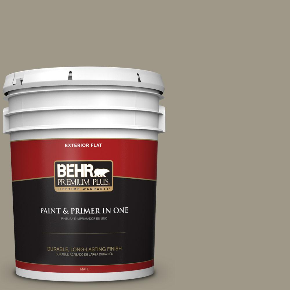 5 gal. #PPU8-20 Dusty Olive Flat Exterior Paint