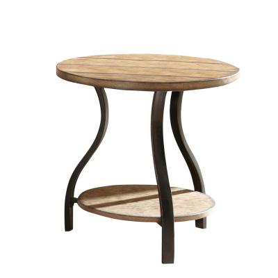 Denise Round Oak End Table