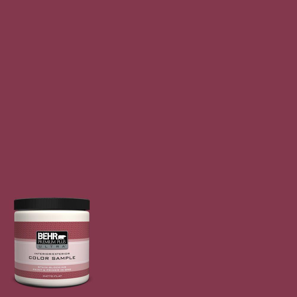 BEHR Premium Plus Ultra 8 oz. #S-H-100 Exotic Flowers Interior/Exterior Paint Sample