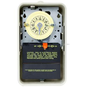 T101R3 40 Amp 24-Hour Mechanical Time Switch with Outdoor Steel Enclosure - Gray