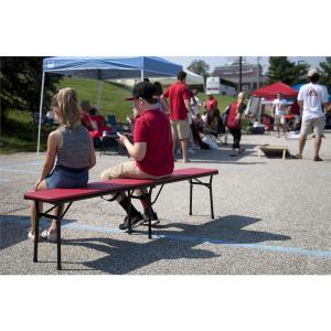 Red Portable 2 Pack Folding Tailgate Bench