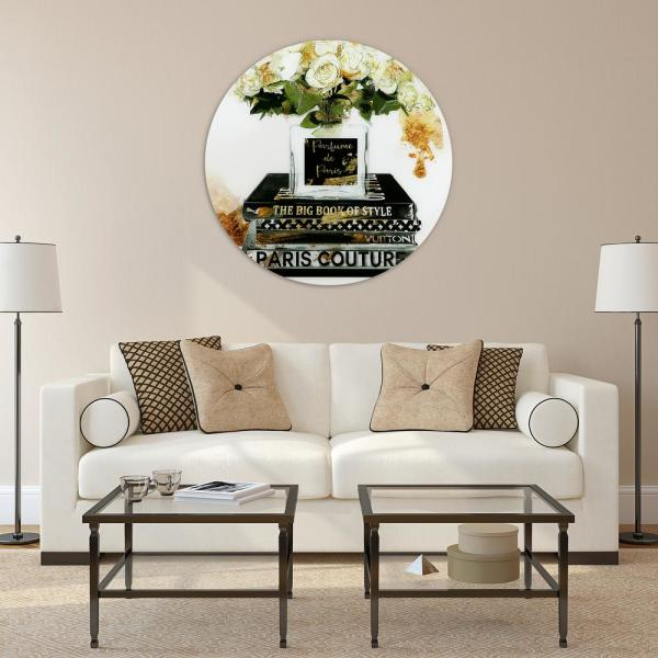 Wall Print Glass Art Hanging Home Decoration Tempered Safe Glass Round Any Size