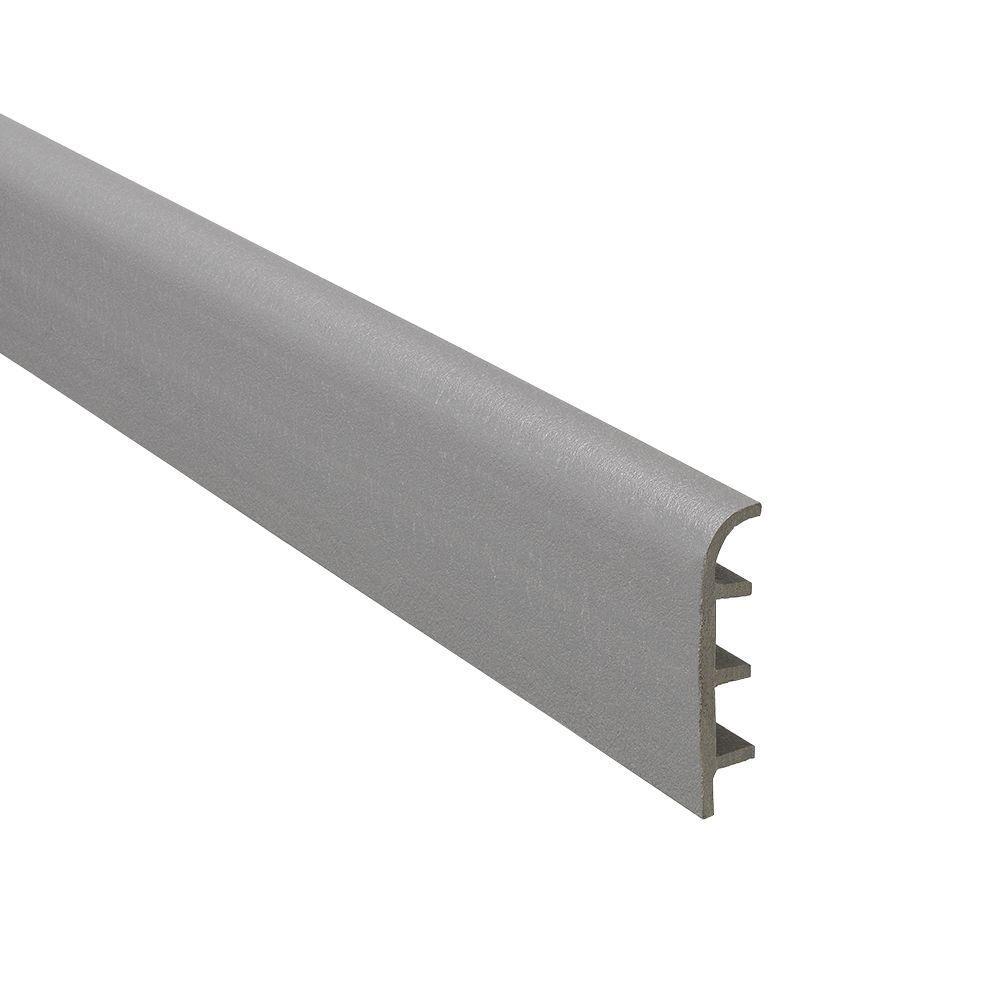 Novorodapie Graphite 2-3/8 in. x 98-1/2 in. Composite Maxi Baseboard Trim