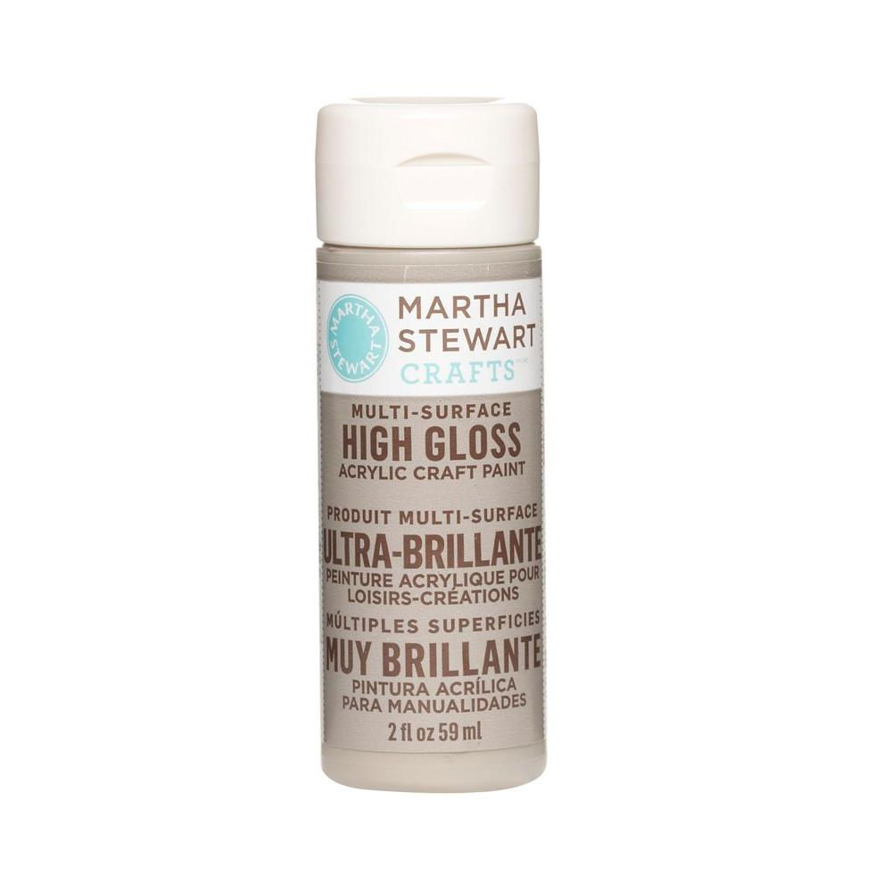Martha Stewart Crafts 2-oz. Gray Wolf Multi-Surface High Gloss Acrylic Craft Paint
