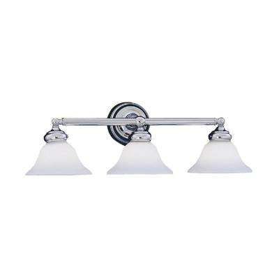 Redondo Collection 3-Light Chrome Wall Mount Vanity Light