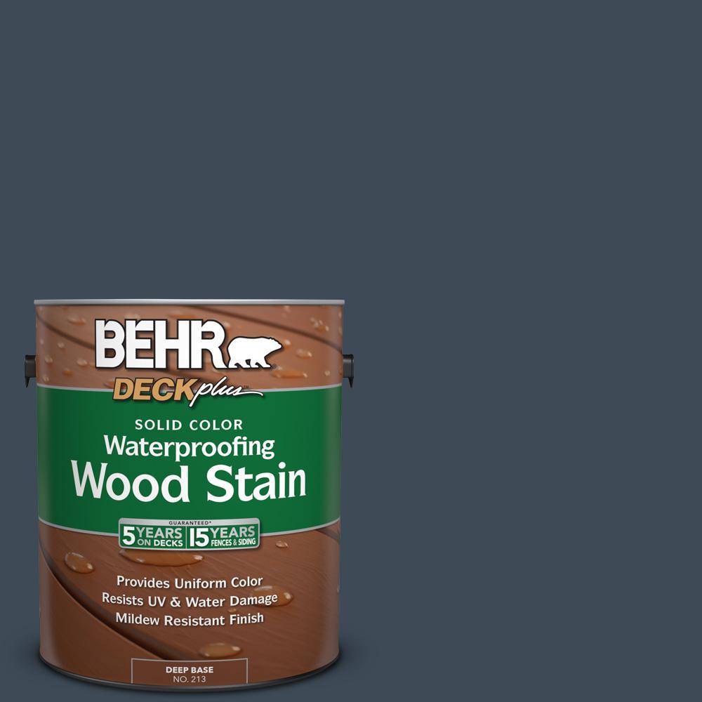 BEHR DECKplus 1 gal. #SC-101 Atlantic Solid Color Waterproofing Exterior Wood Stain