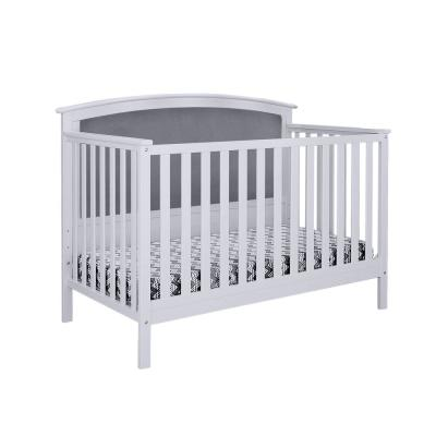 Bentley Gray Linen Upholstered Convertible Crib