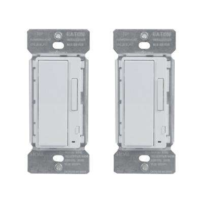 White In-Wall Accessory Dimmer for Use with Home Lights by HALO Home (2-Pack)