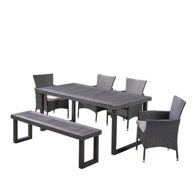 6 Piece Patio Dining Sets Patio Dining Furniture The Home Depot
