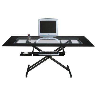 Catherine Elegant Computer Desk in Black Graphite