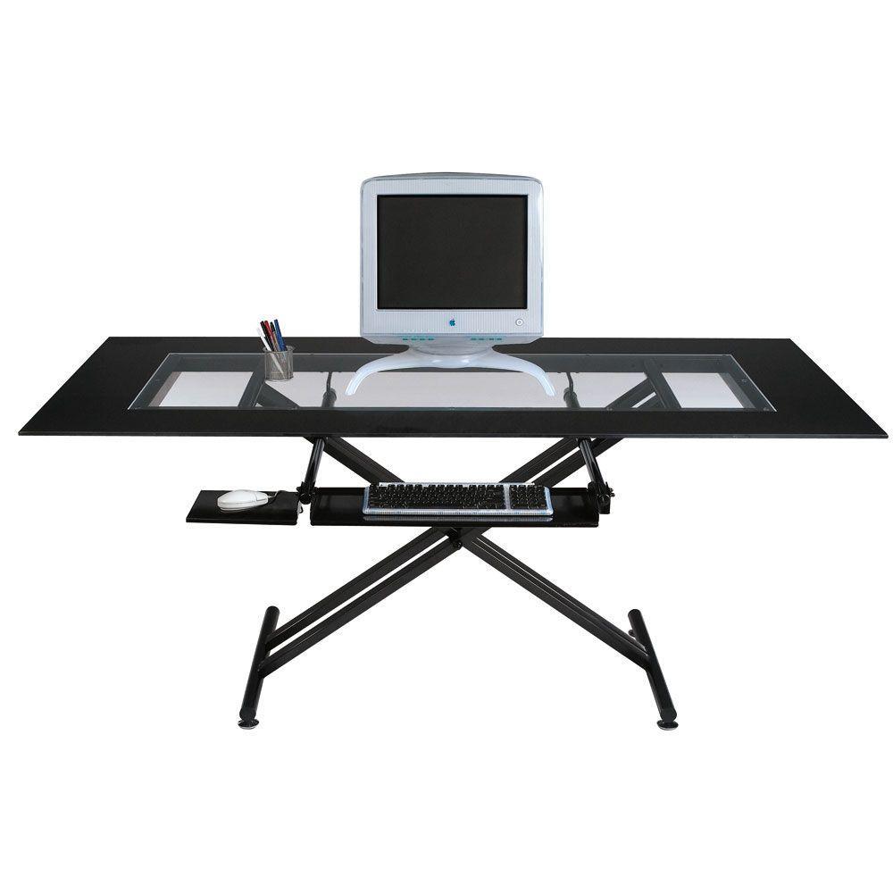 Filament Design Catherine Elegant Computer Desk in Black Graphite CLI-DN4003179