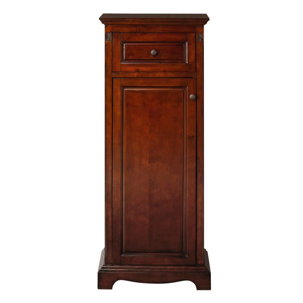 Home Decorators Collection Marseille 49 in. H x 20 in. W Linen Storage Cabinet in Chestnut