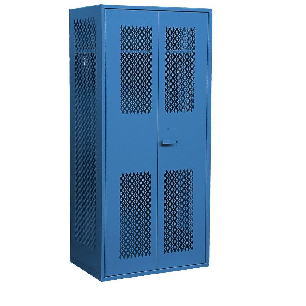 7150 Series 36 in. W x 78 in. H x 24 in. D Military TA-50 Storage Cabinet in Blue