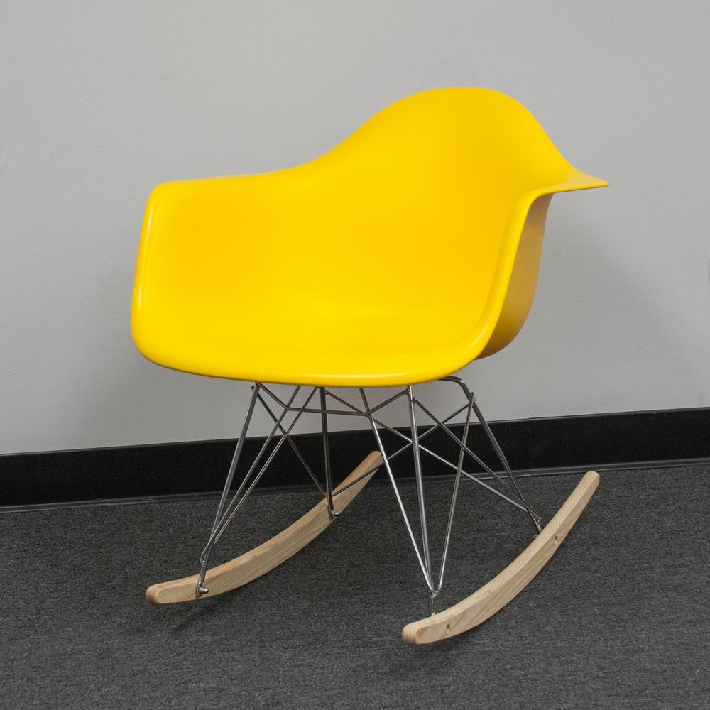 Astounding Paris Tower Rocker Yellow Lounge Chair Lamtechconsult Wood Chair Design Ideas Lamtechconsultcom
