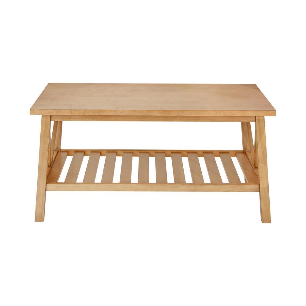 Bannerton Rectangular Patina Finish Wood Coffee Table (42 in. W x 19 in. H)