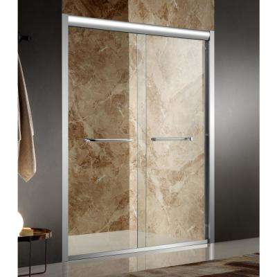 Pharaoh 60 in. x 72 in. Framed Sliding Shower Door in Polished Chrome with Handle