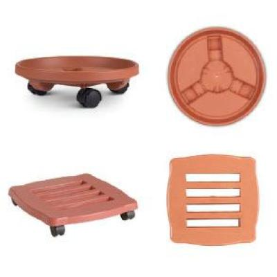 16 in. x 3.5 in. Terra Cotta Caddy Plant Dolly Plastic Round