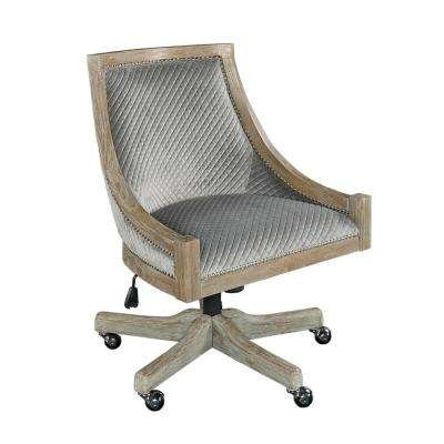 Wimberley Gray Quilted Office Chair