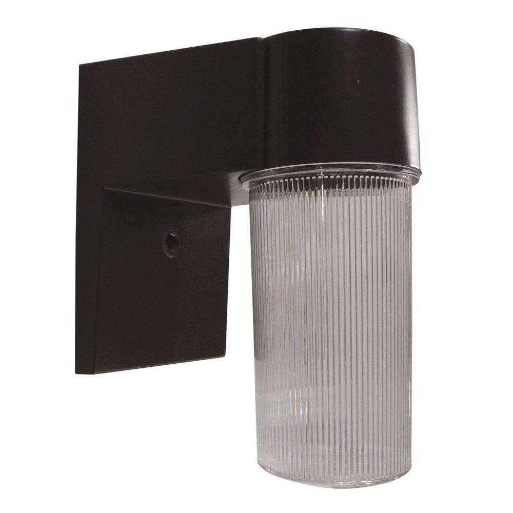 Black Outdoor Integrated LED Wall Mount Sconce