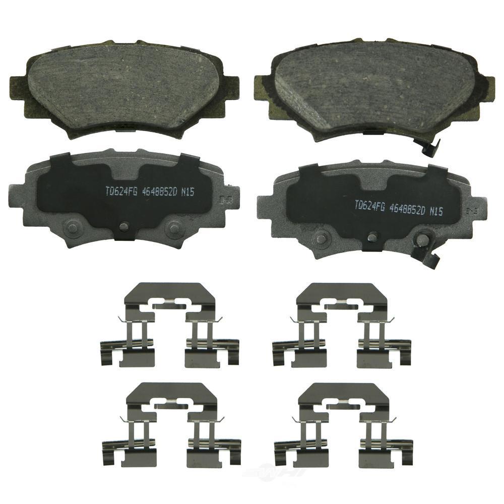 Wagner Brake Disc Brake Pad Set 2014 2018 Mazda 3 2 0l 2 5l Qc1729 The Home Depot