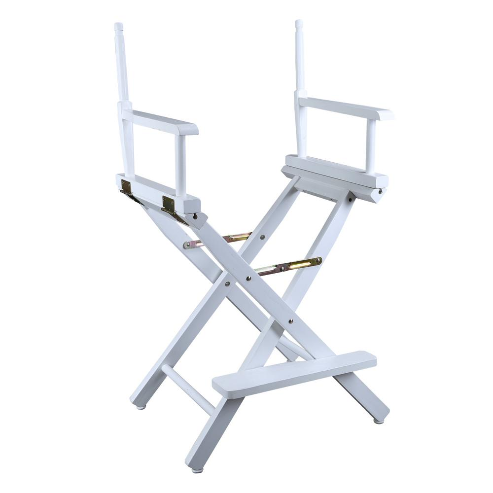 Casual Home 24 In Director S Chair White Solid Wood Frame