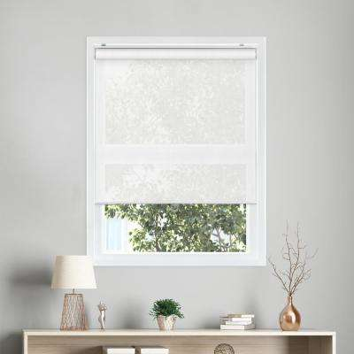 Snap-N'-Glide View-itful White Cordless Polyester Roller Shades - 35 in. W x 72 in. L