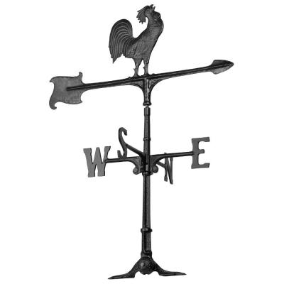 30 in. Cast Aluminum Rooster Weathervane
