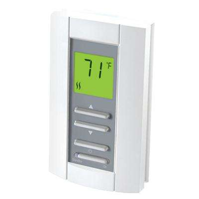 Double Pole 15 Amp 208/240-Volt Digital Electronic Non-Programmable Wall Thermostat in White