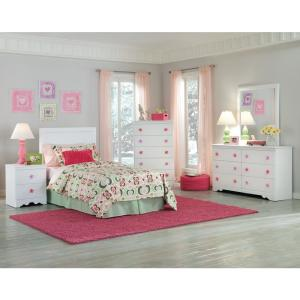 American Furniture Classics Three Piece White Bedroom set ...