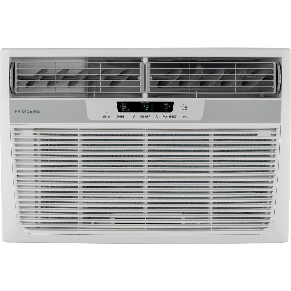 Frigidaire 8,000 BTU Window-Mounted Room Air Conditioner with Supplemental Heat in White