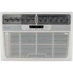 8,000 BTU Window-Mounted Room Air Conditioner with Supplemental Heat in White