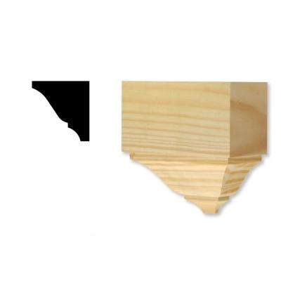 DM 275 - 2-3/4 in. x 5-9/16 in. x 5-5/7 in. Solid Pine Miterless Crown Divider Block