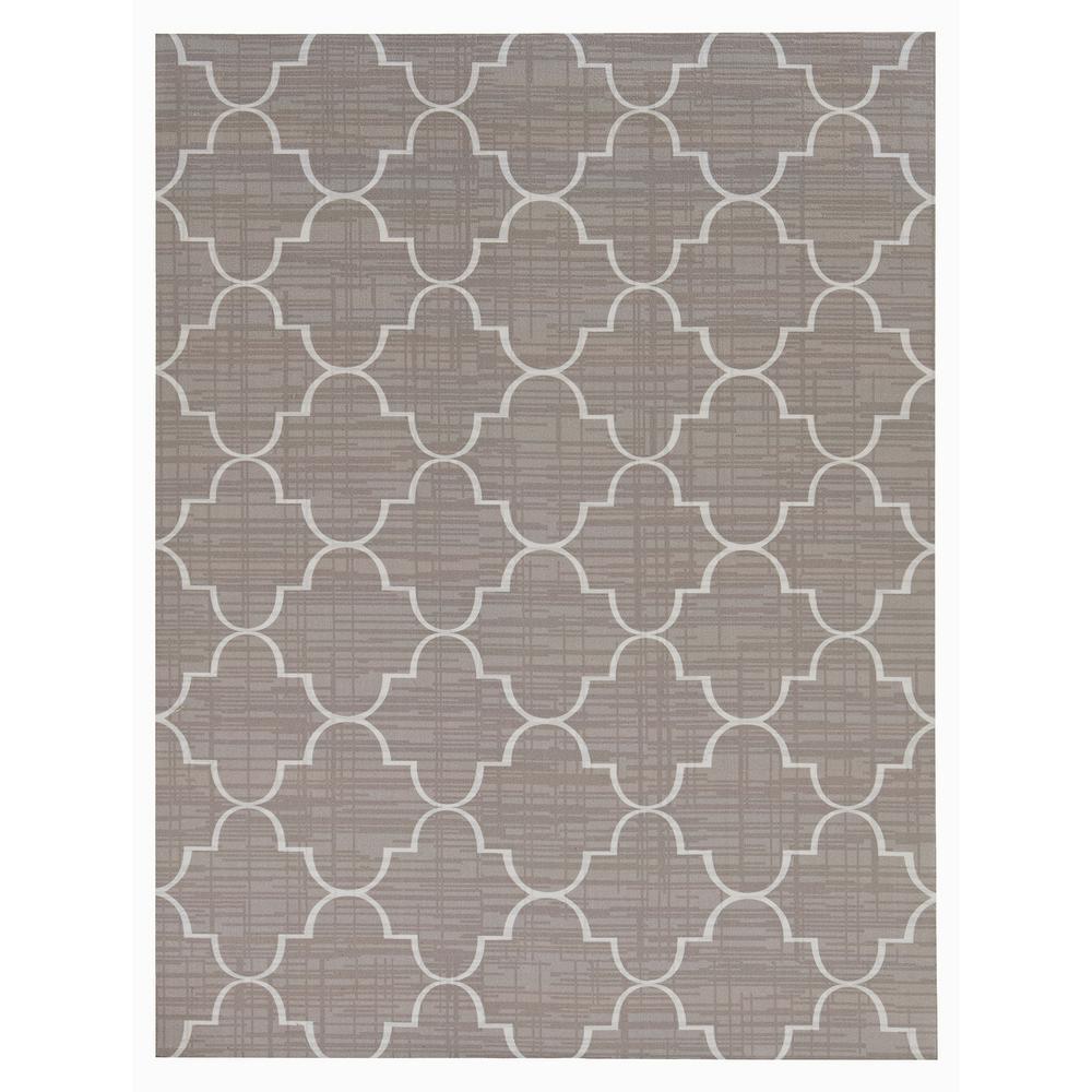 Printed Roman Grey/White 6 ft. x 8 ft. Indoor/Outdoor Area Rug