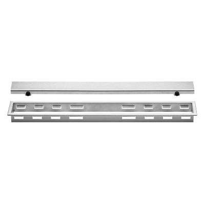 Kerdi-Line Brushed Stainless Steel 31-1/2 in. Closed Grate Assembly with 1-1/8 in. Frame