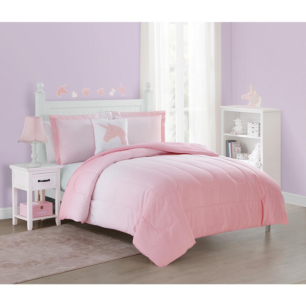 3-Piece Pink Jada Twin Comforter Set