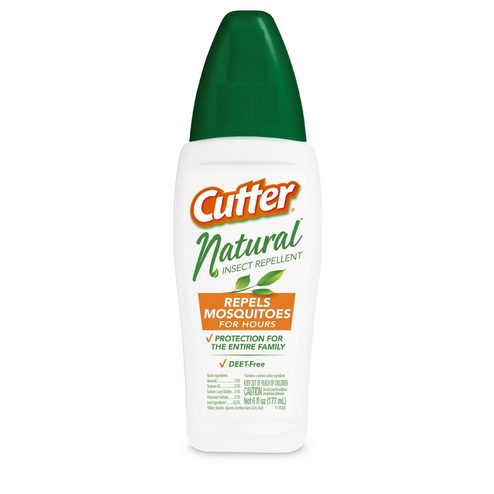 Cutter 6 Oz Deet Free Natural Mosquito And Insect Repellent Pump