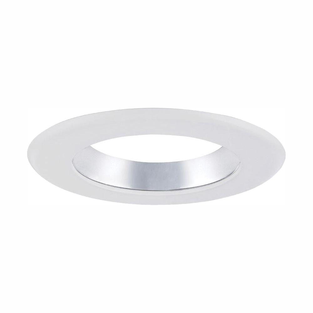 Envirolite 6 In Decorative Specular Clear Cone On White Trim Ring For Led Recessed Light With