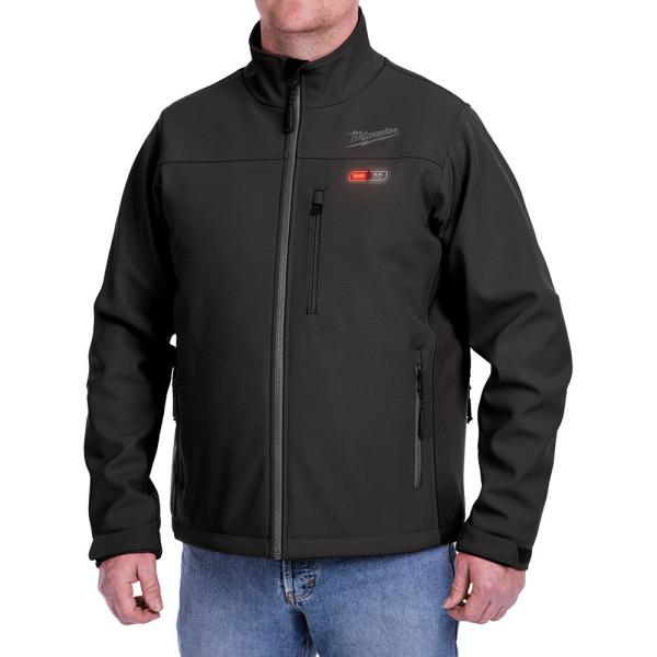 Men's Large M12 12-Volt Lithium-Ion Cordless Black Heated Jacket Kit with (1) 2.0Ah Battery and Charger