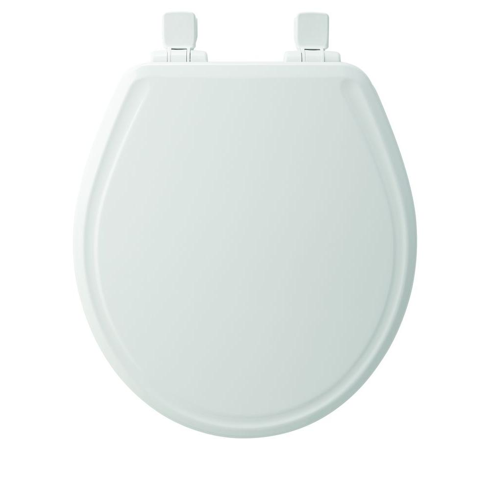 Fine Church Round Closed Front Toilet Seat In White Ncnpc Chair Design For Home Ncnpcorg