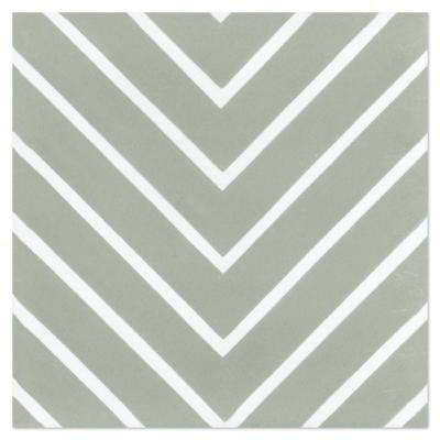 Labyrinth Pale Jade (PS) 7-7/8 in. x 7-7/8 in. Cement Handmade Floor and Wall Tile