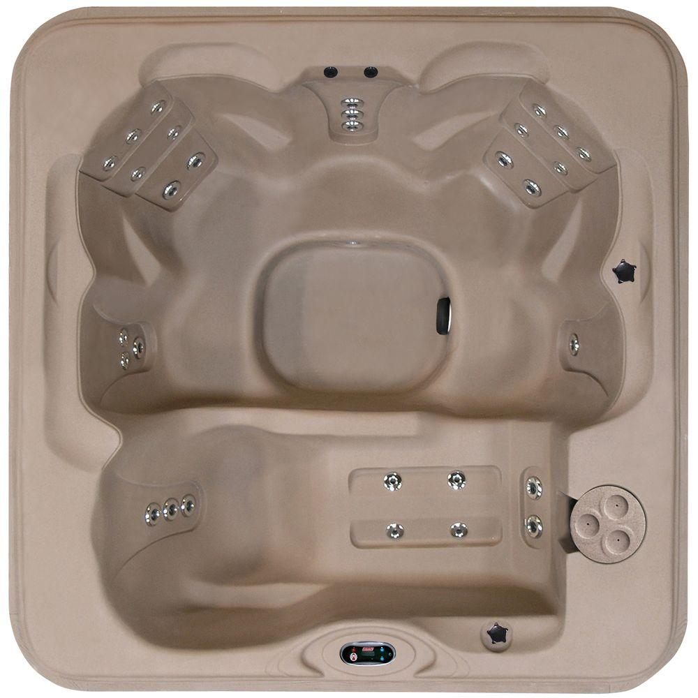Coleman Spas 6-Person 30-Jet Lounger Spa with Easy Plug-N-Play and LED Waterfalls